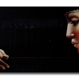 MM015. Maysa Mohammed. Untitled. Oil on Canvas. 40x80 cm