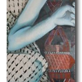 MM026. Maysa Mohammed. Untitled. Oil on Canvas. 120x40 cm