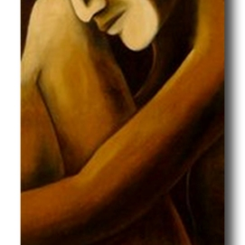 MM024. Maysa Mohammed. Untitled. Oil on Canvas. 120x40 cm