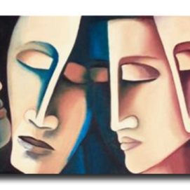 MM021. Maysa Mohammed. Untitled. Oil on Canvas. 120x40 cm