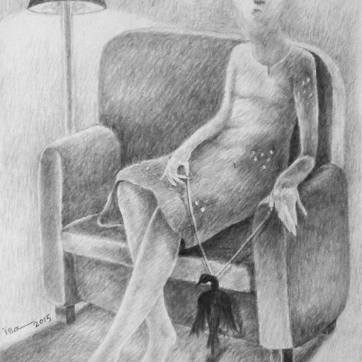 NI020. Nouman Issa. Untitled. Pencil on paper. A4 75. 2015