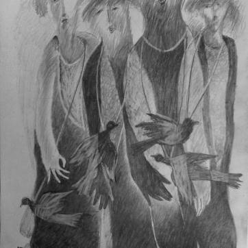 NI026. Nouman Issa. Untitled. Pencil on paper. A4 75. 2015