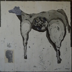 AS028 Alaa Sharabi 150x150 cm Mixed media on canvas 2019