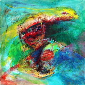 OZ006 Obaidah Zorik Acrylic on Canvas 100x95cm