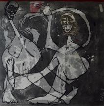 AS012 Alaa Sharabi 150x150 cm Mixed media on canvas 2018