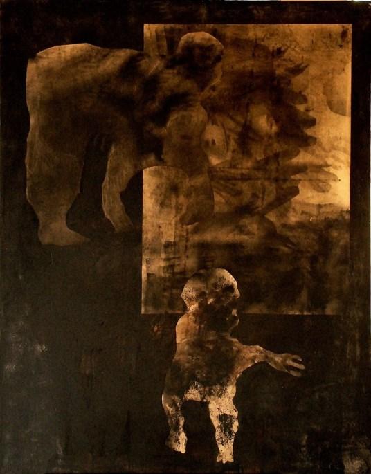 MM001 Maeisam Mallisho Untitled mixed media on canvas 150*110 2016