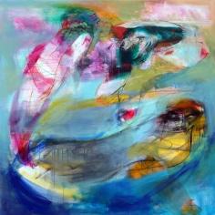 OZ008 Obaidah Zorik Acrylic on Canvas 125x125cm