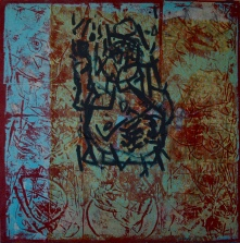 AS021 Alaa Sharabi 150x150 cm Mixed media on canvas
