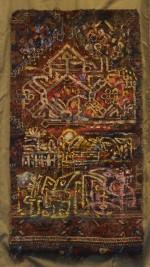 MA012 Mohammed Alolabi Oriental Beat 93x50 cm Oil on Shirazi Carpet