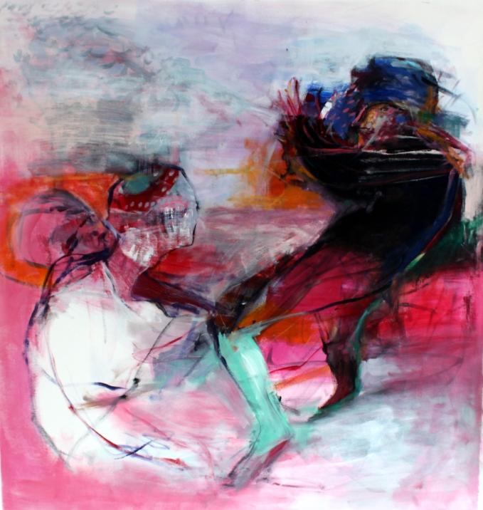 OZ005 Obaidah Zorik Acrylic on Canvas 100x95cm