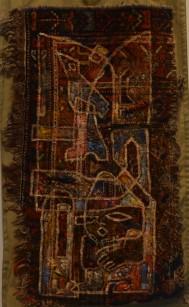 MA006 Mohammed Alolabi Souls House 83x50 cm Oil on Shirazi Carpet