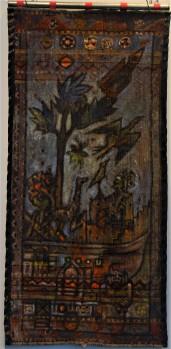 MA011 Mohammed Alolabi Noah 121x58 cm Oil on Handmade Turkish Carpet