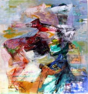 OZ003 Obaidah Zorik Acrylic on Canvas 100x95cm