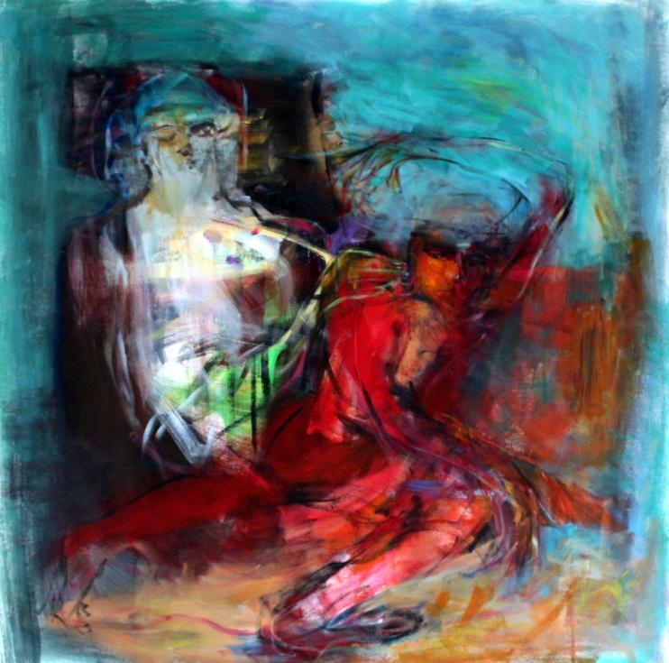 OZ004 Obaidah Zorik Acrylic on Canvas 100x95cm