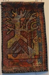 MA013 Mohammed Alolabi a Bird and a Tree 40x66 cm Oil on Turkish Handmade Carpet