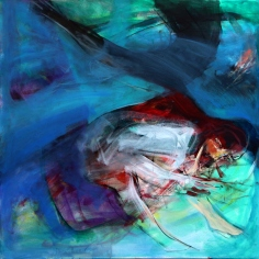 OZ001 Obaidah Zorik Acrylic on Canvas 90x90cm
