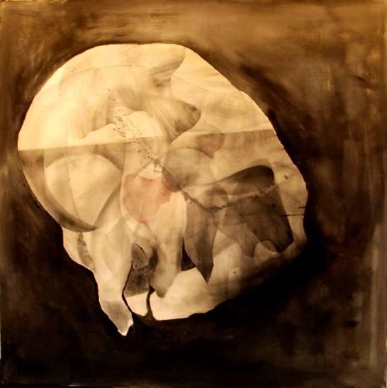 MM004 Maeisam Mallisho Orgasm mixed media on canvas 140*140 2016