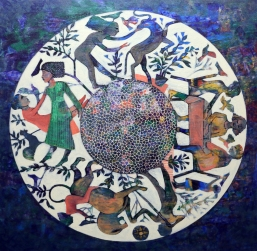 NS012 Nabeel AlSamman 100x100 cm Acrylic on Canvas