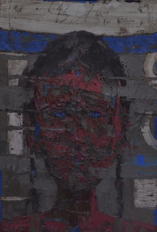 ML007- Blue Muhammad Labash Oil on canvas 77x53 cm