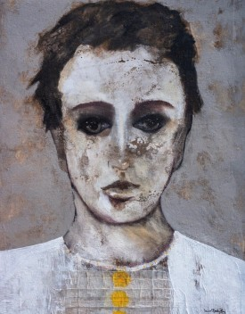 SMB003 Souad Mardem Bey 170x130 cm Oil and Mixed Media on Canvas.