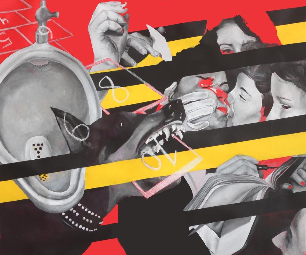 ZK007 Fire of my Loins- 2020 100x80 cm Acrylic on canvas